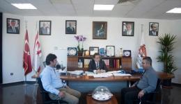 Lefkoşa Türk Belediyesi (LTB) Başkanı Kadri Fellahoğlu, Mimarlar Odası ile görüştü.